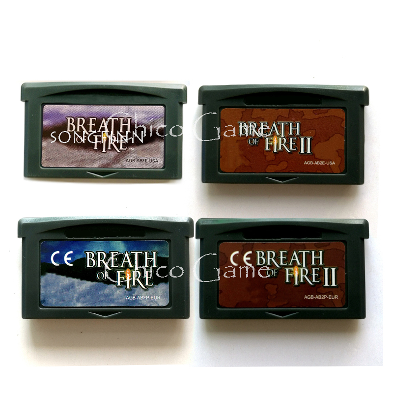 32 Bit High Quality Breath of Fire Series English Edition Video Game Cartridge USA EUR Version