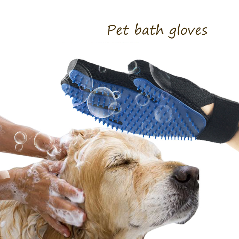 font b Pet b font Dog Cleaning Gloves Cat Dogs Bathing Massage Gloves Beauty Shower