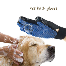 Pet Dog Cleaning Gloves Cat Dogs Bathing Massage Gloves Beauty Shower Gloves Cat Hair Grooming Dog Accessories Pet Supplies pet cleaning supplies massage to float hair printing gloves white cat dog hair bathing beauty gloves dog silicone comb gloves