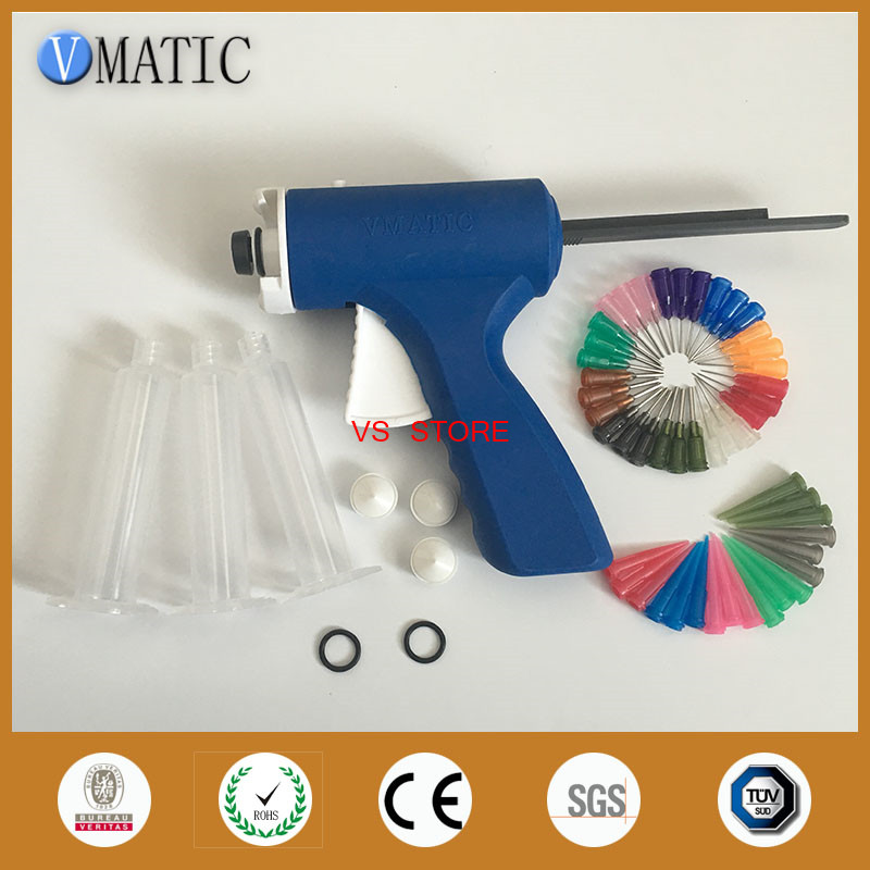 Free Shipping Quality Assurance 10 Cc / Ml Caulk Syringe Gun With Needles