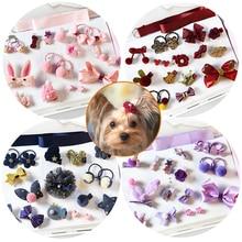 18pcs/set Cute Dog Hairpin Kitten Puppy Boy Girl Party Wedding Pet Grooming Hair Band Clip Pet Accessories Chihuahua Yorkies