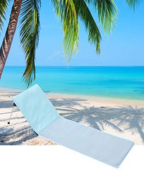 Beach Deck Chair Aluminium Alloy Single Chair with Cushion Folding Beach Chairs Portable for Camping Outdoor Furniture