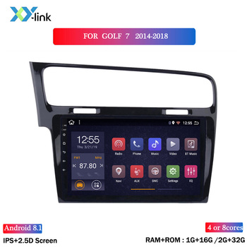 10.1 inch screen Android 8.1 car DVD multimedia player for golf 7 2014-2018 car radio GPS navigation system bluetooth no 2 din image