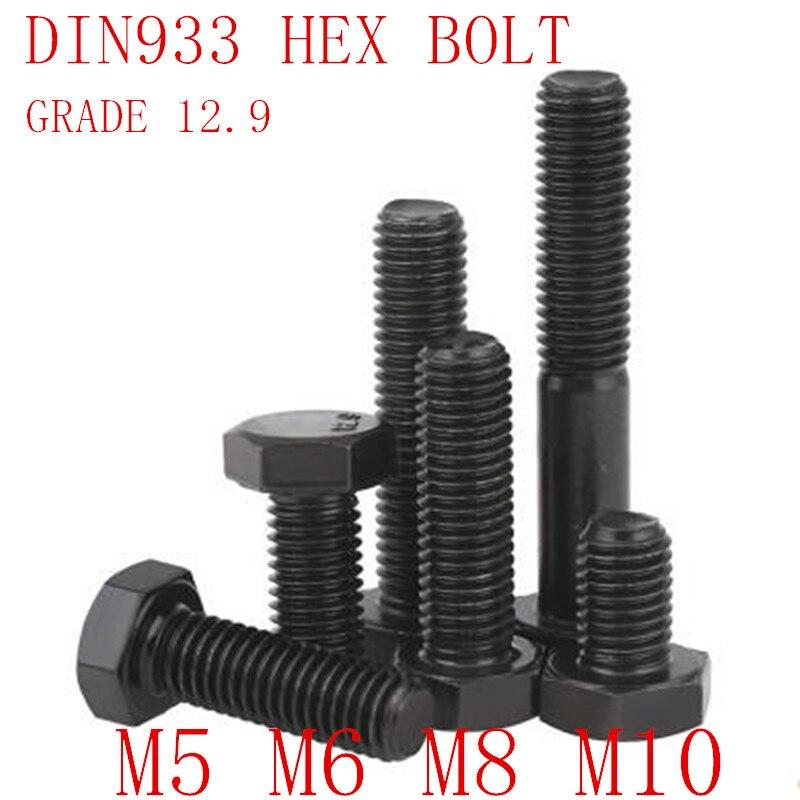 10pcs Metric Thread M8x65mm 304 Stainless Steel Hex Head Cap Screws Bolts
