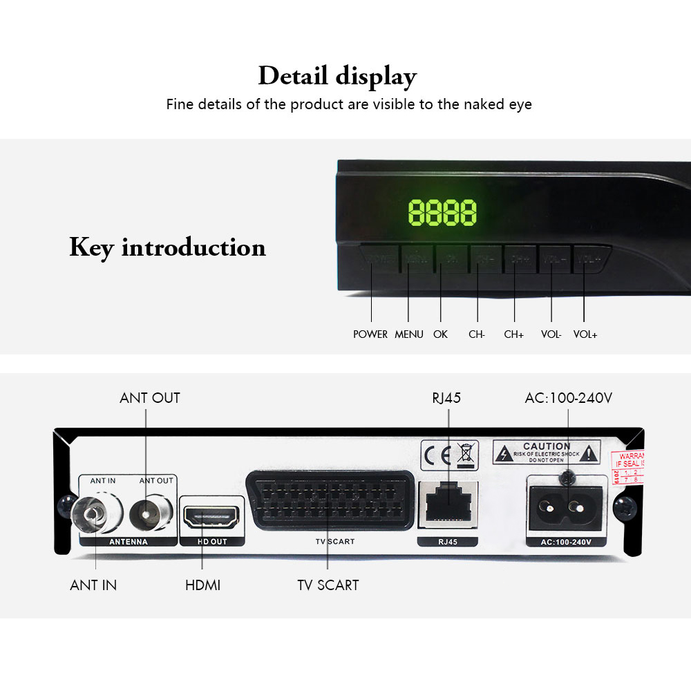 Image 5 - Netherlands DVB T2 digital receiver supports FTA H.265/ HEVC DVB T RJ45 LAN dvb t2 hot sale Europe Russia Czech Republic Germany-in Satellite TV Receiver from Consumer Electronics