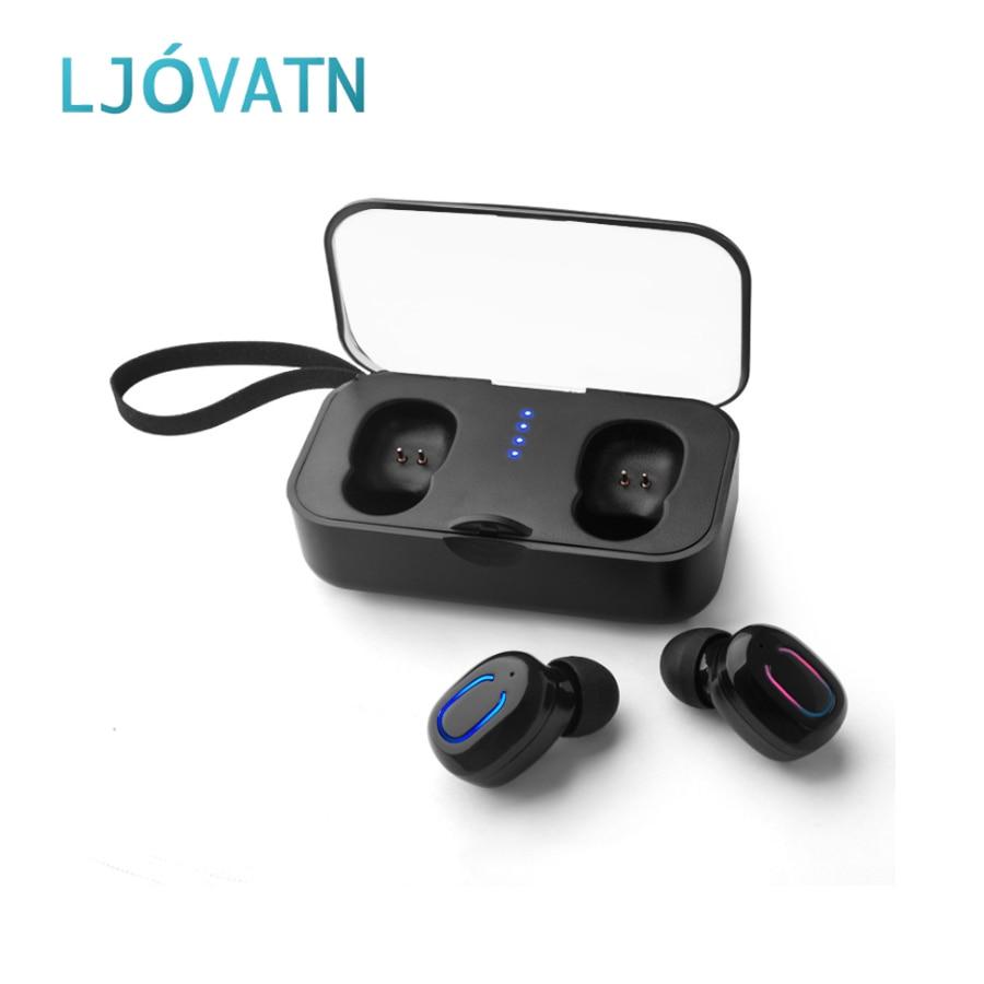 LJOVATN TWS écouteur sans fil Bluetooth 5.0 écouteurs affichage de puissance pour téléphone intelligent Sport sans fil écouteurs casque charge boîte