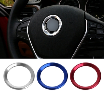 Hot Selling Car Steering Wheel Decoration Circle Cover Sticker For BMW X1 E60 E36 E39 E46 E30 image