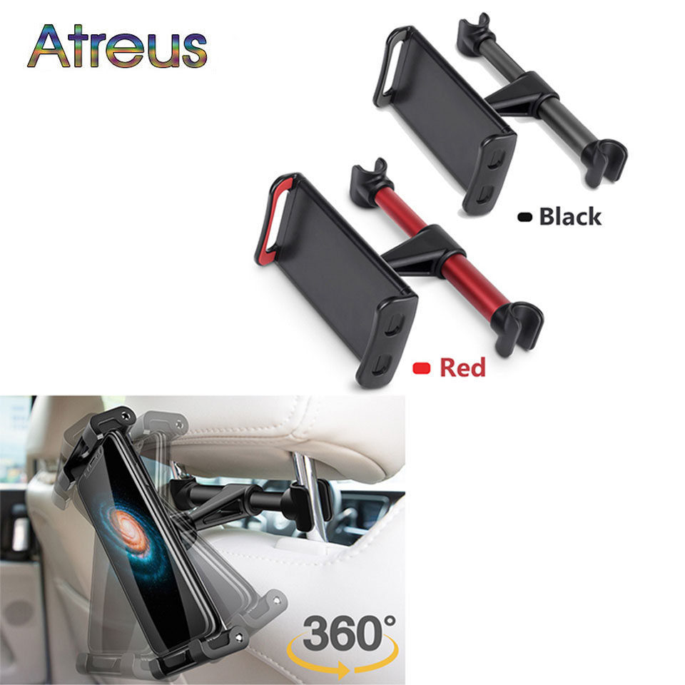 360 Degree Rotating Car Back Seat Headrest iPad <font><b>Phone</b></font> <font><b>Holder</b></font> for Acura Chevrolet Cruze Aveo Peugeot 307 308 Seat Leon <font><b>Mazda</b></font> 3 <font><b>6</b></font> image