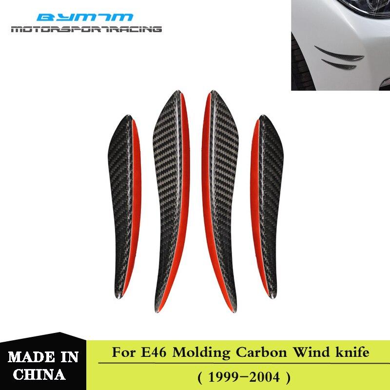Real da fibra do Carbono Pára Vento faca Motores Peças & Acessórios Para BMW E60 F10 F20 F30 F15 E70 E90