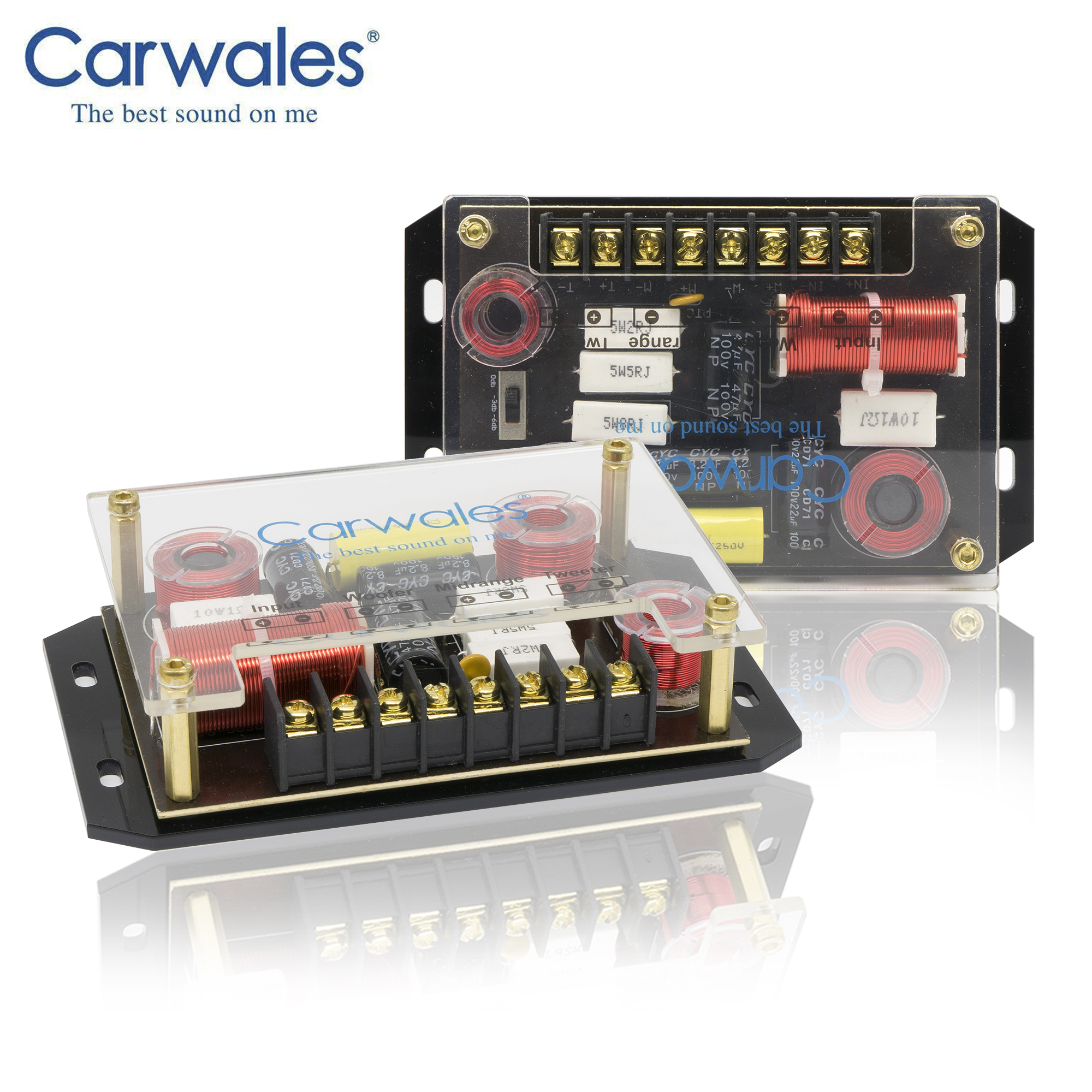 """Image 4 - Lossless Installation 6.5"""" 3 way Car Sound System 3.5 """" Midrange Treble Full Frequency Component Speakers Kit Subwoofer for CarSpeakers Sets   -"""