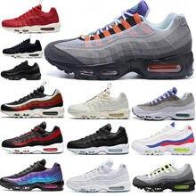 Zapatillas deportivas 95 OG para hombre, calzado deportivo para correr, suela negra, gris, azul, triples, blancas, a la moda, novedad de 2020