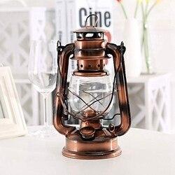 25Cm żelazne antyczne brązowe latarnie olejowe (okładka) nostalgiczne przenośne zewnętrzne lampy kempingowe szczelne zamknięcie na zewnątrz Camping Light w Zewnętrzne narzędzia od Sport i rozrywka na