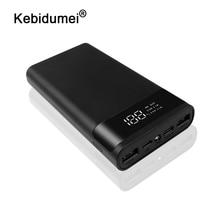 5V 듀얼 USB 빠른 충전 LED 휴대용 6x18650 보조베터리 배터리 상자 셸 케이스 DIY Type C 마이크로 USB 전화 충전기 상자 케이스