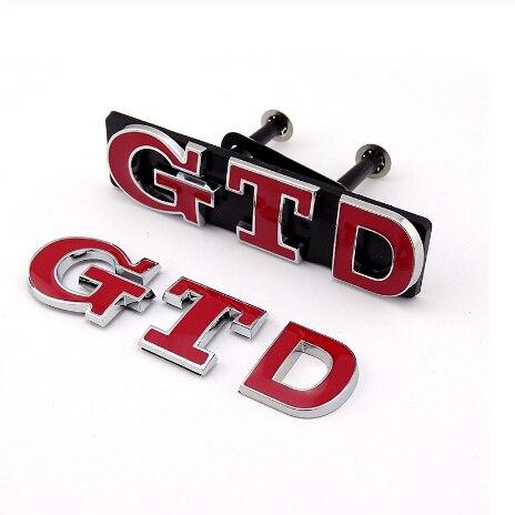 3D GTD GTID grill Golf MKIV car sticker Golf MKV car logo Golf MKVII car emblem Polo 9N2 Polo N3 badge