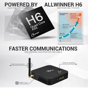 Image 2 - Android 9.0 TV kutusu TX6 4GB 64GB 5.8G Wifi Allwinner H6 dört çekirdekli USB 3.0 BT4.2 4K medya Google Player Youtube Set üstü kutusu TV kutusu