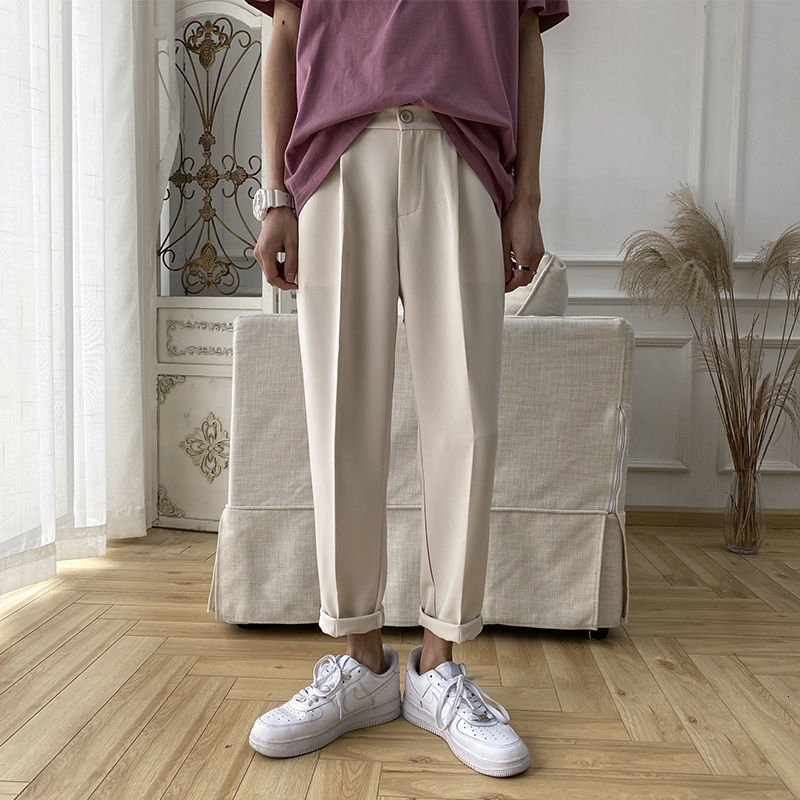 Privathinker Solid Color Men Harem Pants Korean Men's Slim Straight Pants 2020 Streetwear Men Casual Pants Trousers