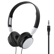 3.5mm Wired Headset Headphone Foldable HiFi Audio Bass
