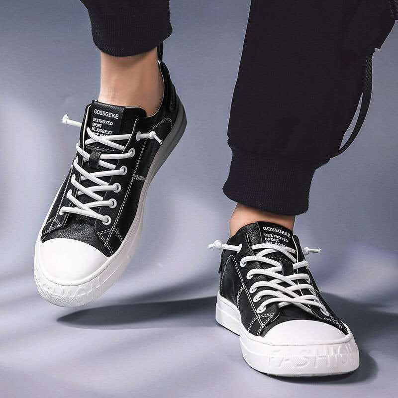 High Quality Boys Vulcanized Shoes Men Balck Sneakers 2020 New Arrival Microfiber Flat Sneakers