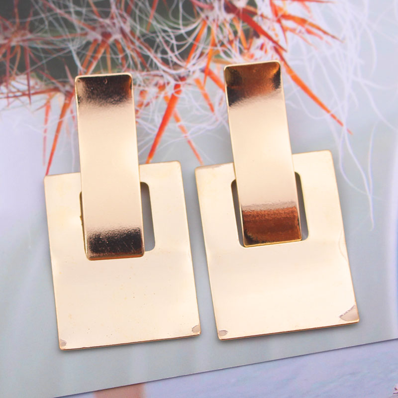 H5d7ce6862f904a20bb9b8d6b6c5a10car - Simple Metal Drop Dangle Earrings For Women Geometric Wedding Party Vintage Earring Female Bohemian Jewellery oorbellen