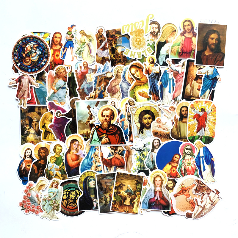 68pcs Jesus  Classic 90s Kids Stickers Pack Fans Anime Paster Cosplay Scrapbooking Diy Phone Laptop Decorations