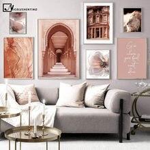 Marokko Hassan II Moschee Islamische Leinwand Malerei Architektur Poster Reise Landschaft Druck Wand Kunst Bild Home Dekoration