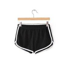 Women Candy color stretch  shorts feminine sports shorts YF004