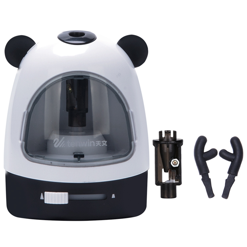 TEN-WIN Electric Pencil Sharpener Cartoon Automatic Pencil Sharpener Stationery for Students School Supplies