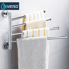 Everso держатель для полотенец из нержавеющей стали вращающаяся стойка для полотенец Ванная комната Кухня настенный держатель для полотенец полированная стойка аксессуары