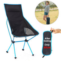 Outdoor Camping Chair Oxford Cloth Portable Folding Lengthen Camping Ultralight Chair Seat for Fishing Festival Picnic BBQ Beach