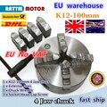 ЕС Бесплатный НДС ручной патрон четыре 4 кулачковый Самоцентрирующийся патрон K12 100 мм 4 кулачковый патрон машинный инструмент токарный патр...