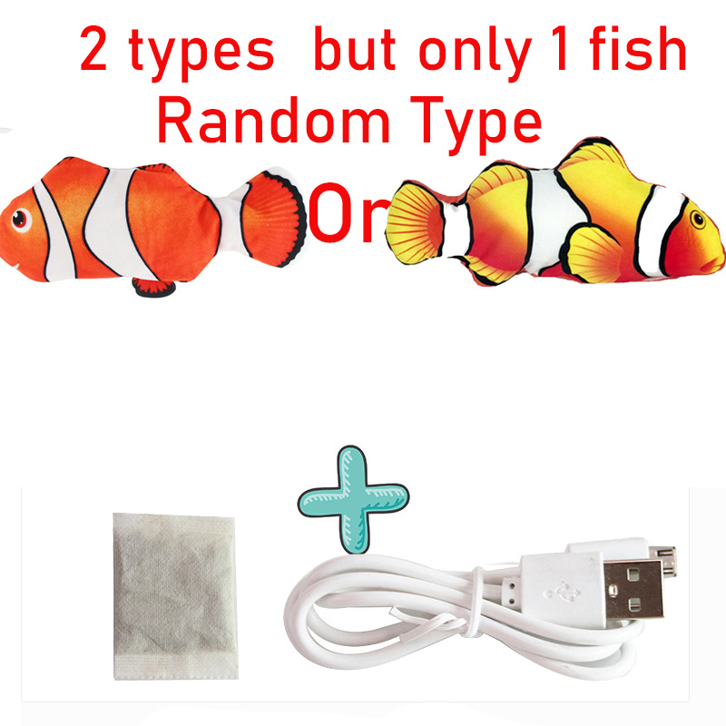 Cat USB Charger Toy Fish Interactive Electric floppy Fish Cat toy Realistic Pet Cats Chew Bite Toys Pet Supplies Cats dog toy 11