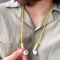 55 cm cinta do fone de ouvido para airpods tws anti lost cinta corda de silicone para bluetooth fones de ouvido cabo de silicone Acessórios para fone de ouvido Eletrônicos -