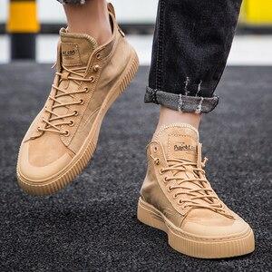 Image 5 - Zapatos informales vulcanizados para hombre, zapatillas con plataforma, alta calidad, novedad, 2020