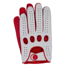 New Arrival Luxury Mens Leather Gloves Mittens Hole Button B