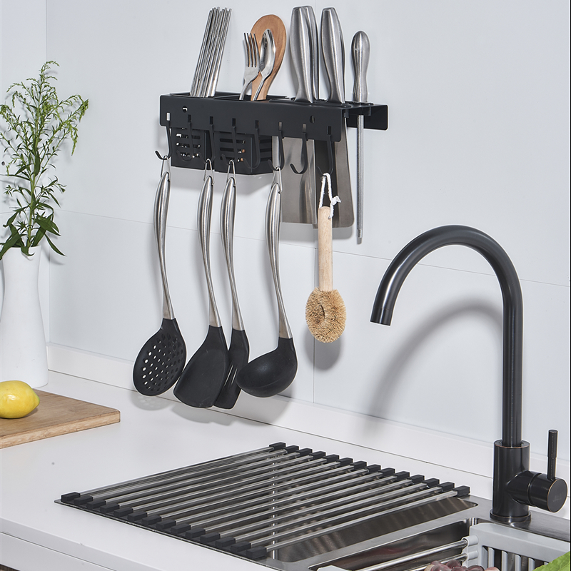 Kitchen Knife Rack Stainless Steel For Knife Rack Wall Mounted Kitchen Rack for Utensils Kitchen Shelves Organizer Storage Shelf