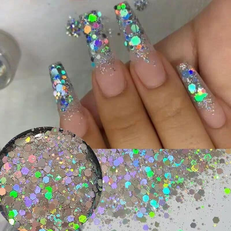 Holographic Nail Glitter Powder Laser Irregular Sequins Art Manicure Decorations Tools
