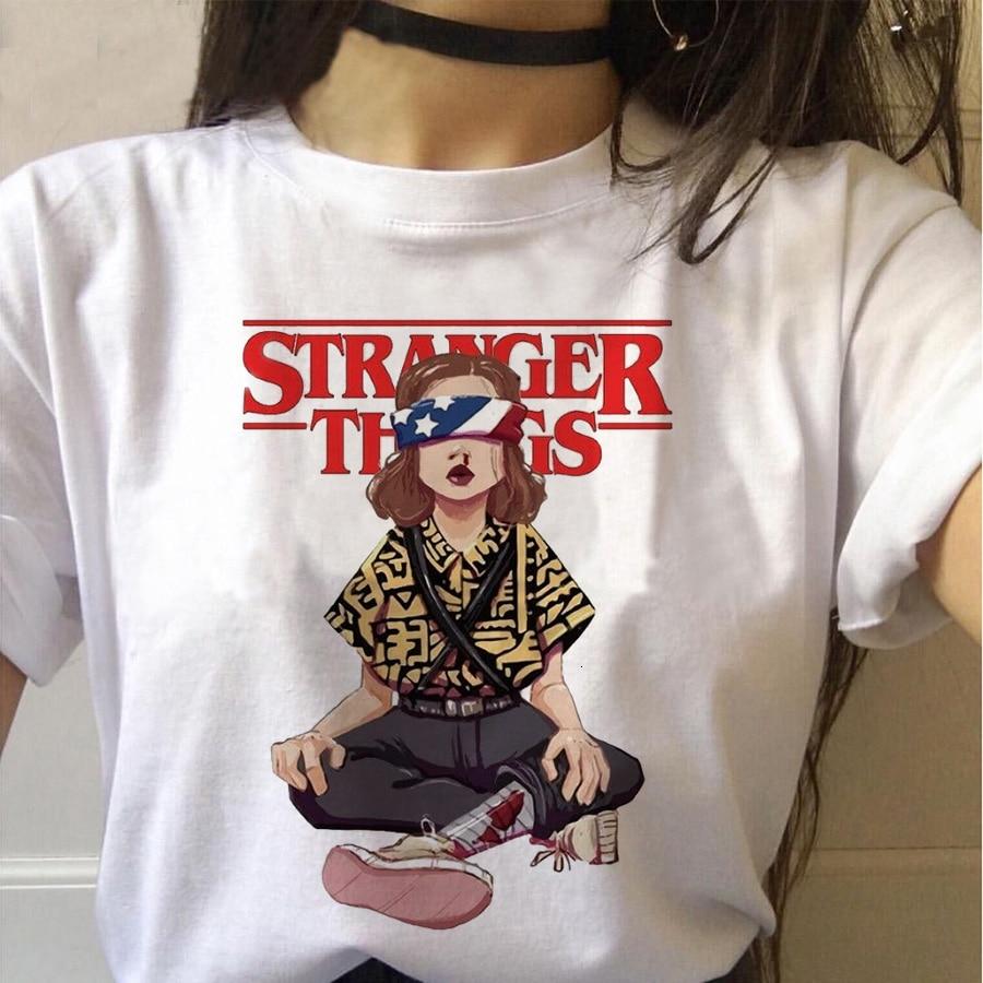 Stranger Things 3 Women Tshirt Funny Femme Eleven Tshirt Fashion Ulzzang Short Sleeve Summer Female Harajuku T-shirt Oversized