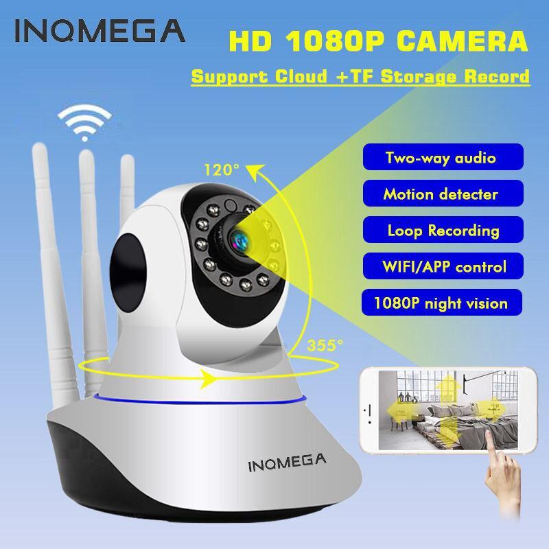 INQMEGA 1080P 720P 2M bezpieczeństwo w domu IP bezprzewodowa kamera PTZ Mini kamera monitorująca Wifi kamera CCTV IR niania elektroniczna baby monitor AudioRecord
