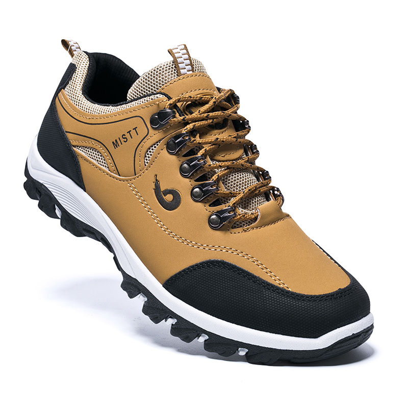 New Leather Outdoor Sports Hiking Shoes Men Waterproof Fishing Anti-skid Working Climbing Trekking Shoes Male Hunting Boots 2020
