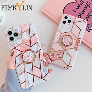 FLYKYLIN Ring Holder Marble Case on For Samsung A50 A51 A40 A50 A70 A41 A71 Note 9 10 20 Ultra S8 S9 S10 S20 S20 Plus Soft Cover