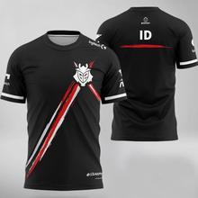 2021 lol lec g2 uniforme da equipe niko kennys rekkles esports camisa das mulheres dos homens unissex camiseta csgo casual tops roupas id personalizado