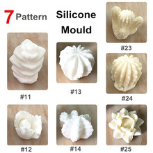 Silicone Succulent Flower Potting Mould Cake Chocolate Fondant Soap Making Mold