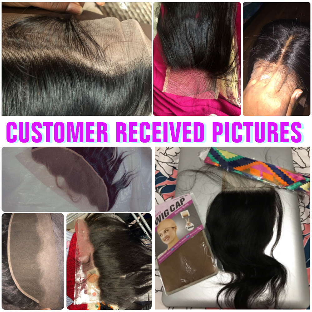 13x4 4x4 2x6 Lace Frontal  100% Human   Hair Natural Hairline Free/Middle/Three Part Lace Closure 6