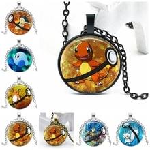 2020 New Pokemon Pikachu 3 Color Necklace Glass Convex Cartoon Children Pendant Gift elf on the shelf