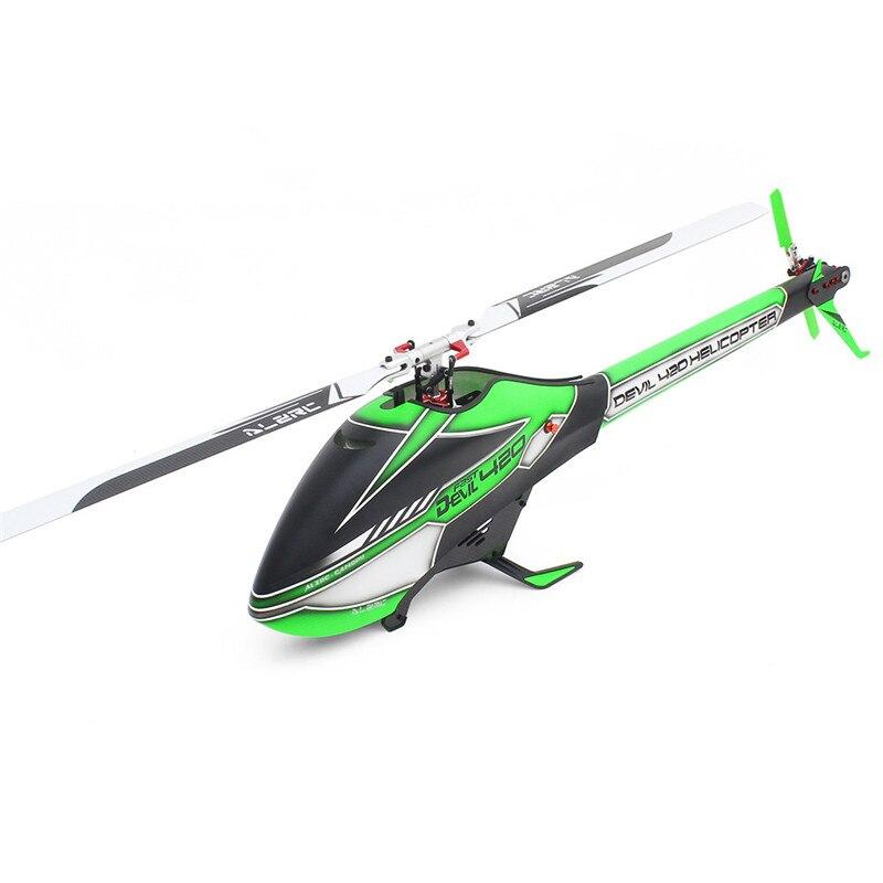 ALZRC Devil 420 FBL VELOCE 6CH 3D Rosso/Giallo/Verde Volare RC Elicottero Kit di Alta Qualità