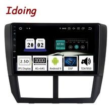 """9 """"자동차 Android9.0 라디오 멀티미디어 플레이어 스바루 산림청 2008 2012 PX5 4G + 64G 8 코어 GPS 네비게이션 2.5D IPS TDA 7850"""