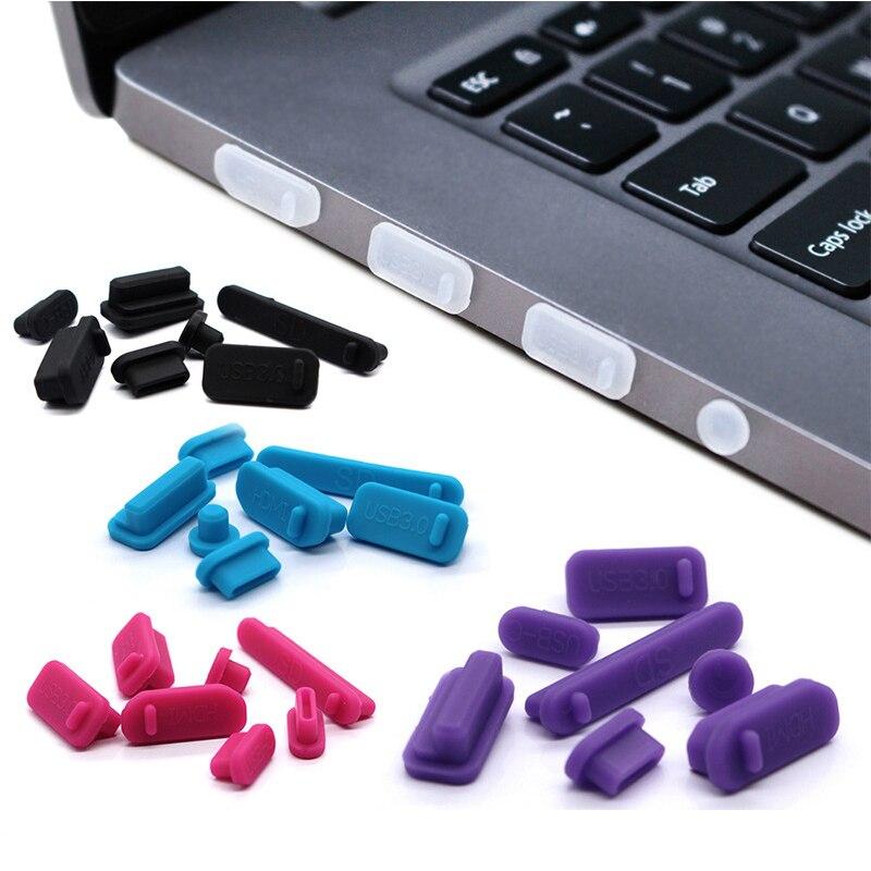 Protetor de plugue de poeira usb para laptop, plugue de proteção antipoeira para laptop e laptop 13, pçs/set colorido