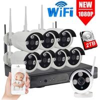 IMPORX 8CH 1080P 2MP kamera IP system cctv rekord wodoodporna zewnętrzna bezprzewodowa kamera do monitoringu NVR zestaw Wifi zestawy nadzoru 2TB w Systemy nadzoru od Bezpieczeństwo i ochrona na