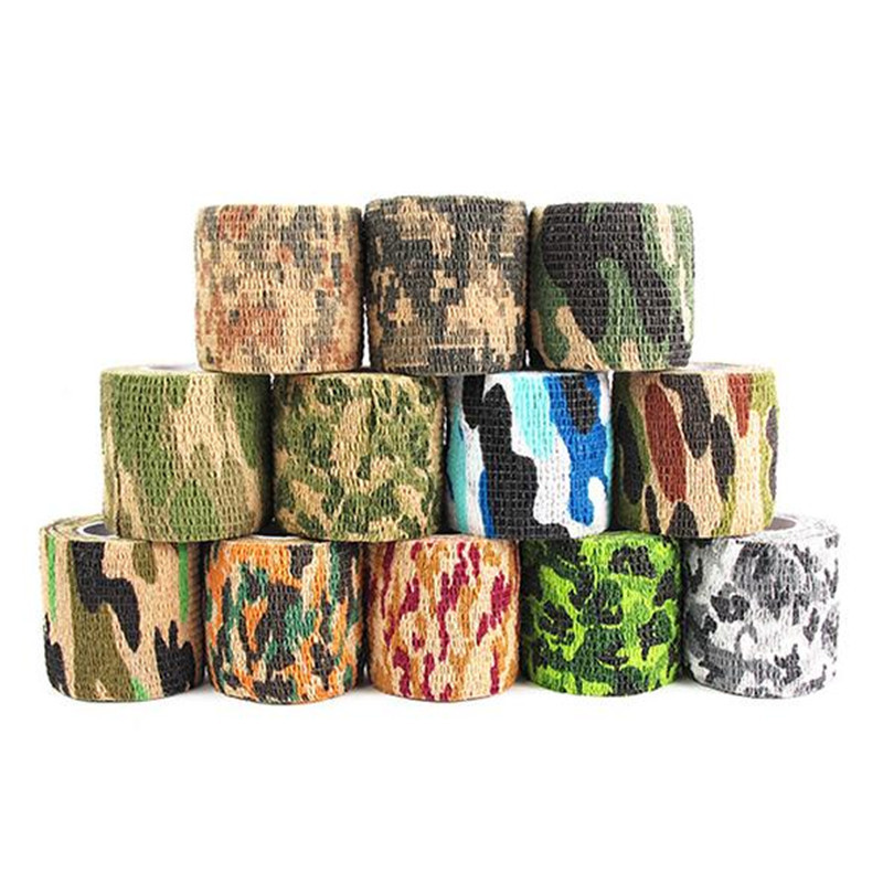 Outdoor Camouflage Adhesive Duct Tape Pick Colors Flexibility camouflage  Waterproof Wrap Durable Hunting Shooting Tool
