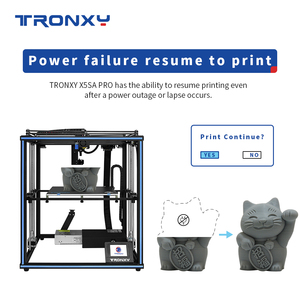 Image 3 - Tronxy X5SA PRO 3D 프린터 구조 키트 diy 자동 레벨 impresora 제어 보드 알루미늄 프로파일 3d 컬러 프린터 tpu 필라멘트